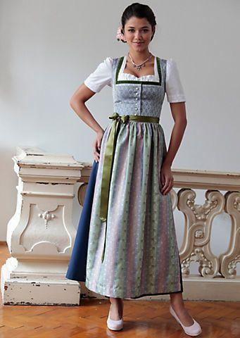Hannah Dirndl Lang In Leicht Schimmernder Optik In Blau/grün Im Online Shop  Von Baur Versand