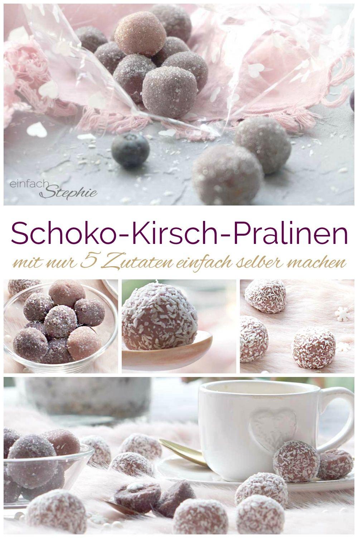 Schoko-Kirsch-Pralinen in Kokos einfach selber machen ⋆ einfach Stephie