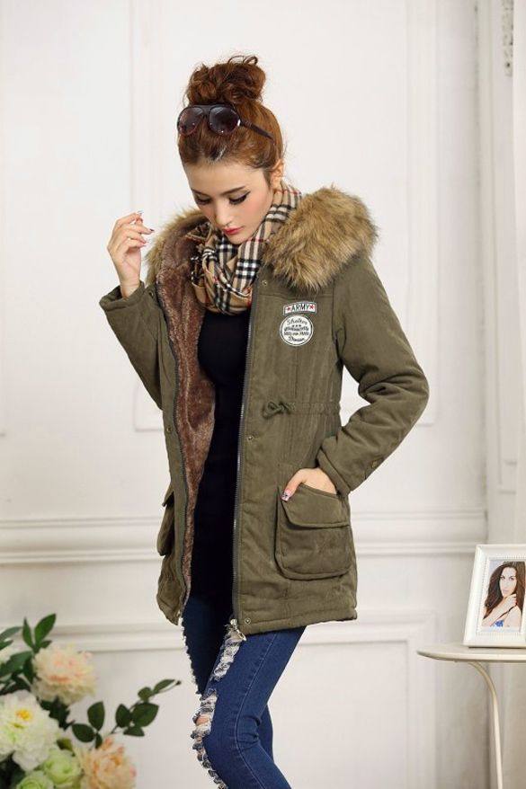 d881fc64c 2015 Fashion New Lady Women Thicken Warm Winter Coat Hood Overcoat Long  Jacket Outwear