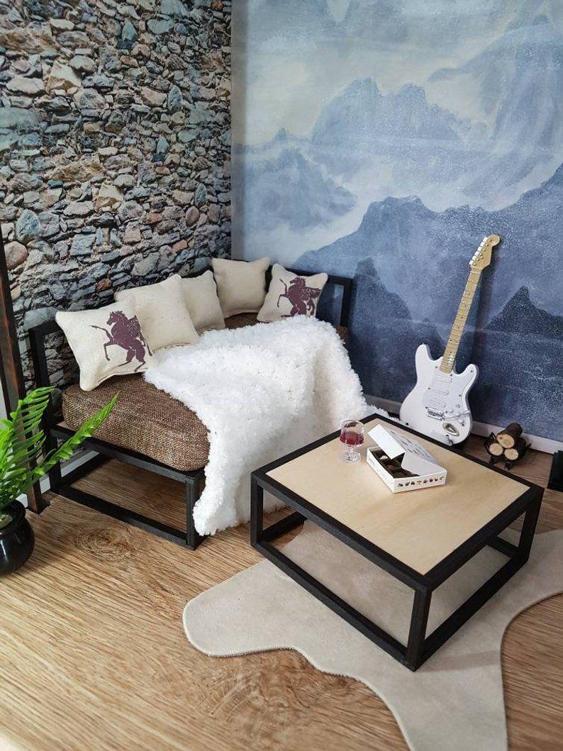 Miniature modular frame sofa chair table or bed doll
