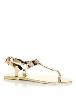 Michael Kors Plate Jelly sandaal in metallic