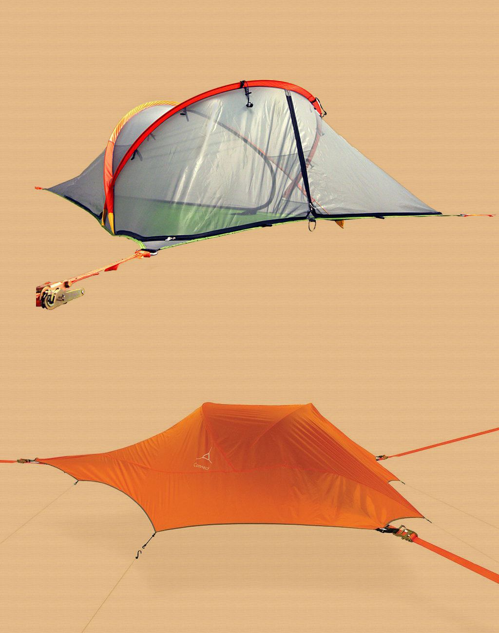 $450 Tentsile Connect Suspended Tree Tent Orange  sc 1 st  Pinterest & Tents 179010: New With Tags! $450 Tentsile Connect Suspended Tree ...