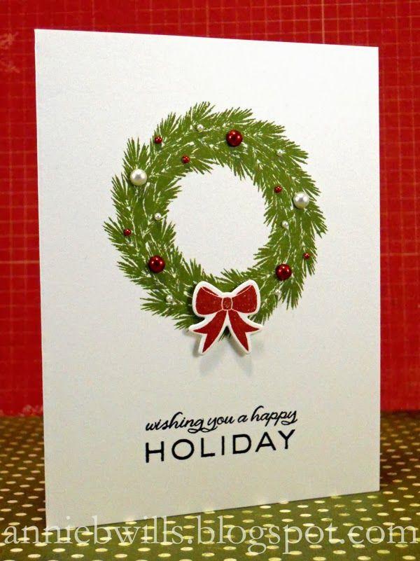 Simple Woodland Wreaths Card Christmas Cards To Make Christmas