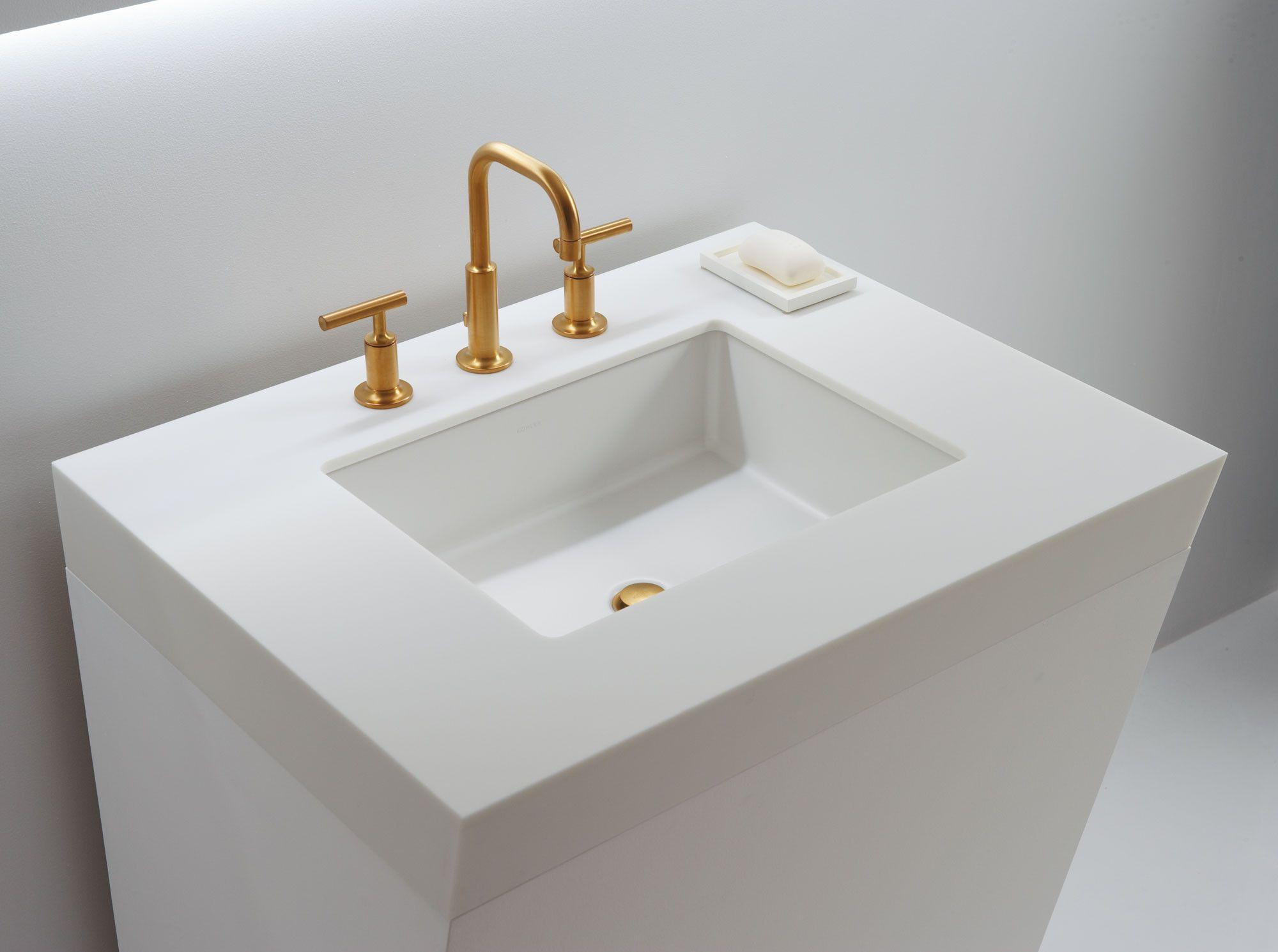 Verticyl Ceramic Rectangular Undermount Bathroom Sink With