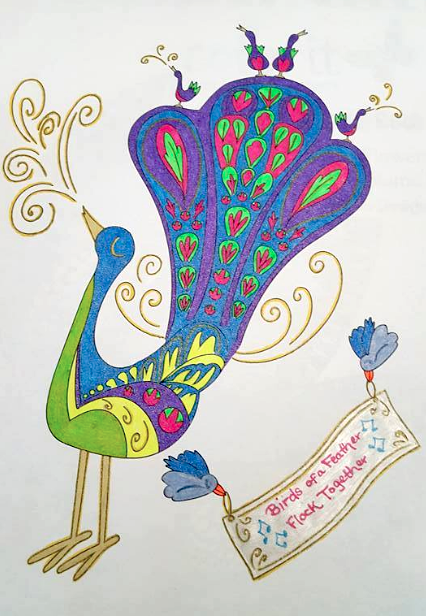 Jody S Rupp Facebook Winning Peacock Coloring Page Book ClubsColoring
