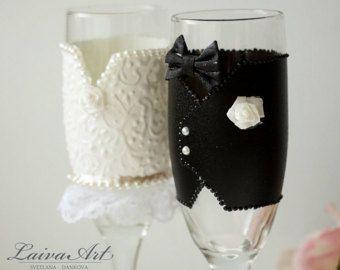 Items similar to wedding anniversary toasting flute ivory glass