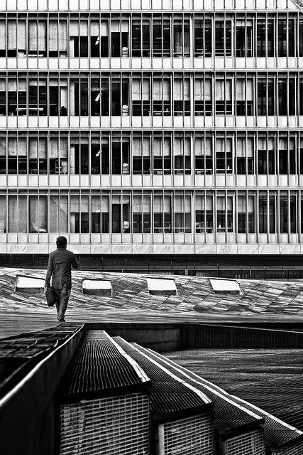 Bureaucracy by paulo josé abrantes on Flickr. Edifício EDP e Casa da Música Porto