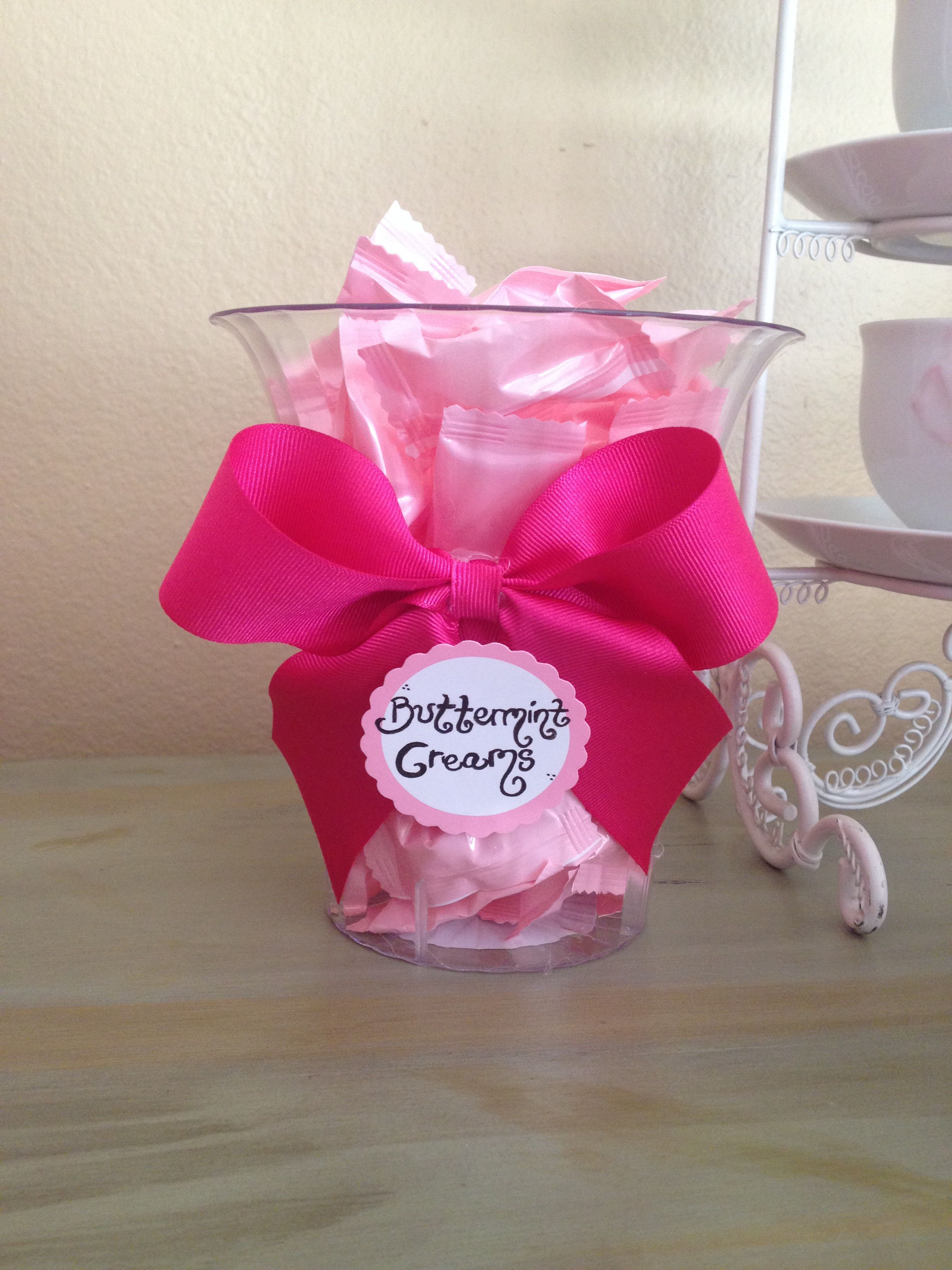 Baby shower candy bar DIY candy jars