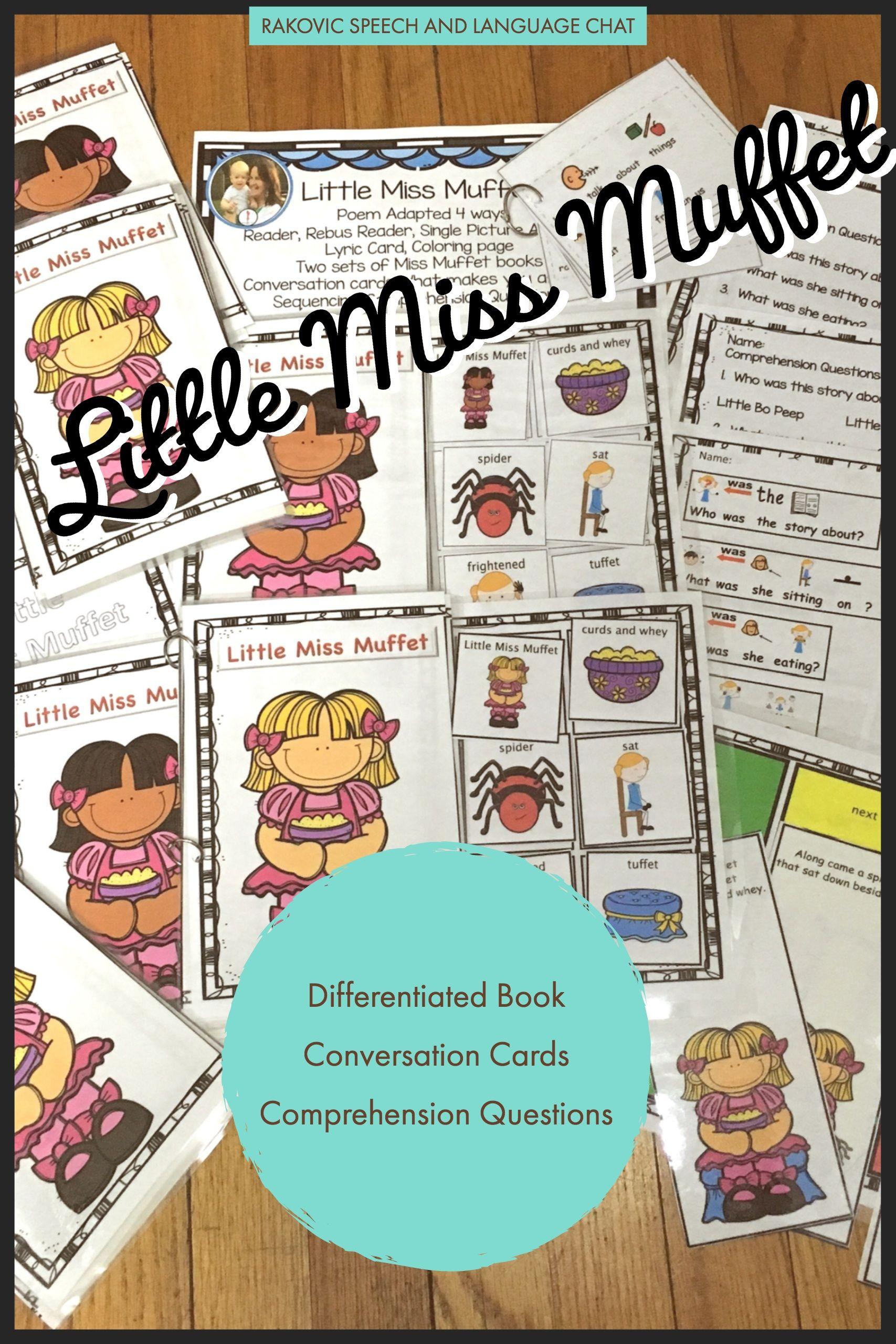 Little Miss Muffet Nursery Rhyme Interactive Sequence