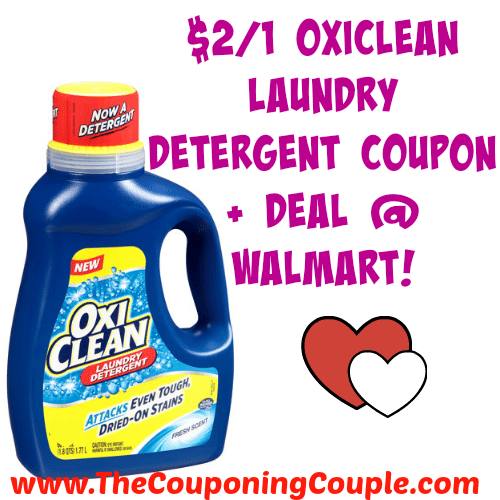 2 1 Oxiclean Laundry Detergent Coupon Deal Walmart Laundry