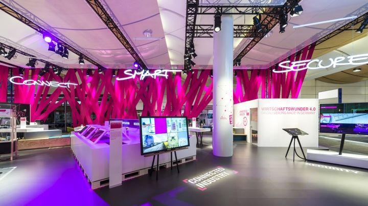 Deutsche Telekom Trade Fair Stand at Hannover Messe 2015