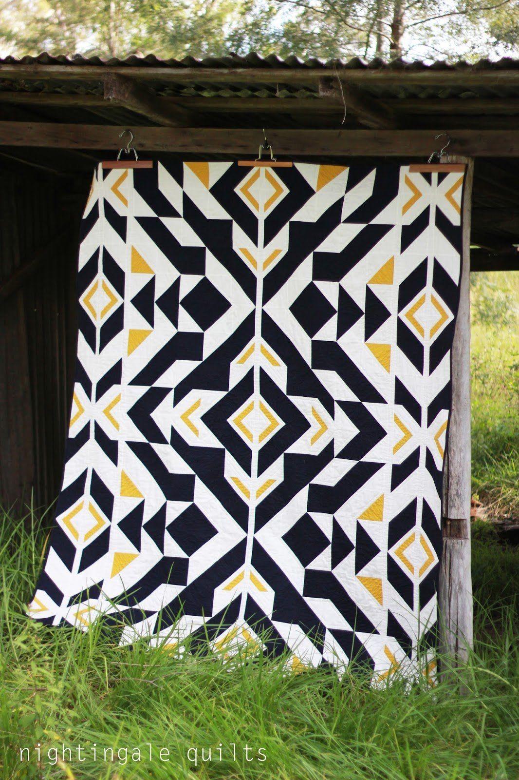 Free Pattern Bravo Indigo Quilt By Caroline Greco