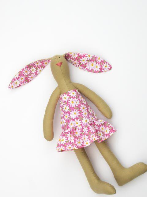Stuffed bunny rabbit hare Easter bunny plush softie summer bunny in ...