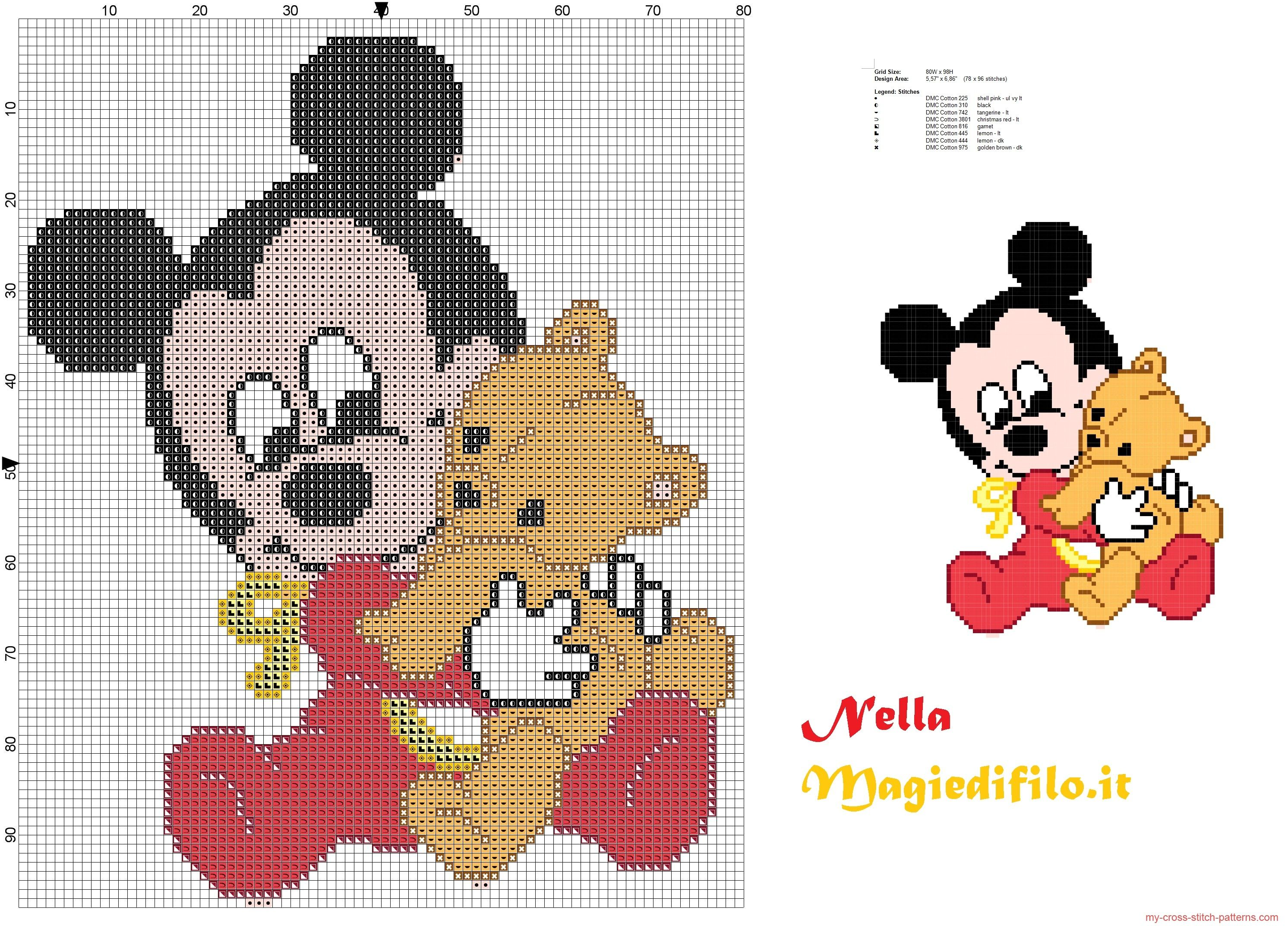 Baby Mickey Mouse with teddy bear | miki i mini in 2018 | Pinterest ...