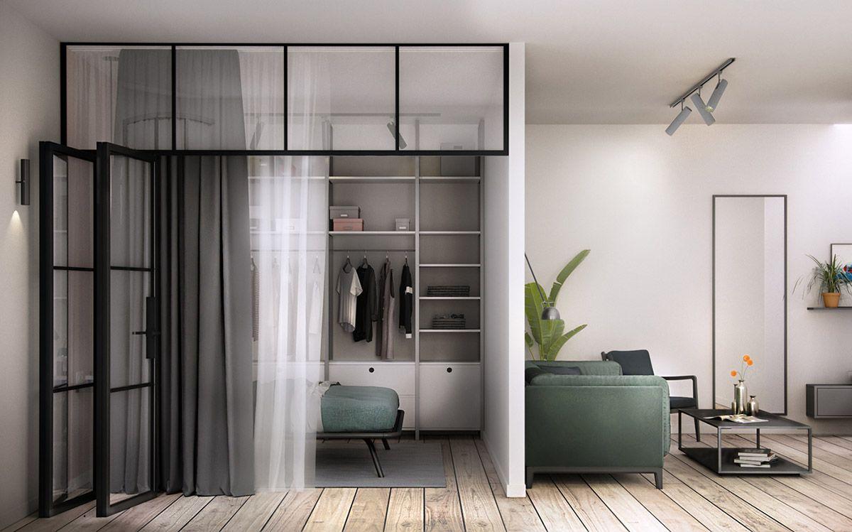 3 offene innenr ume mit glaswand schlafzimmer dekoration for Schlafzimmer mit trennwand