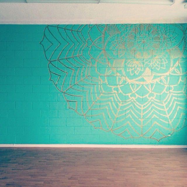 Amazing mandala in my yoga studio 93bcfe760655