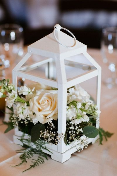 Country chic texas barn wedding white lanterns