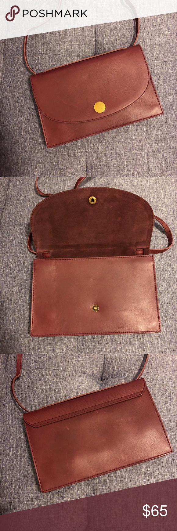 8ce6699743c2 Madewell Slim Convertible Bag - Dark Cabernet This bag can be worn  crossbody or doubled up