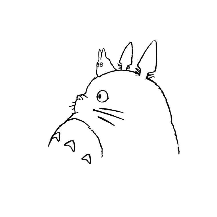 Dessin Totoro Noir Et Blanc