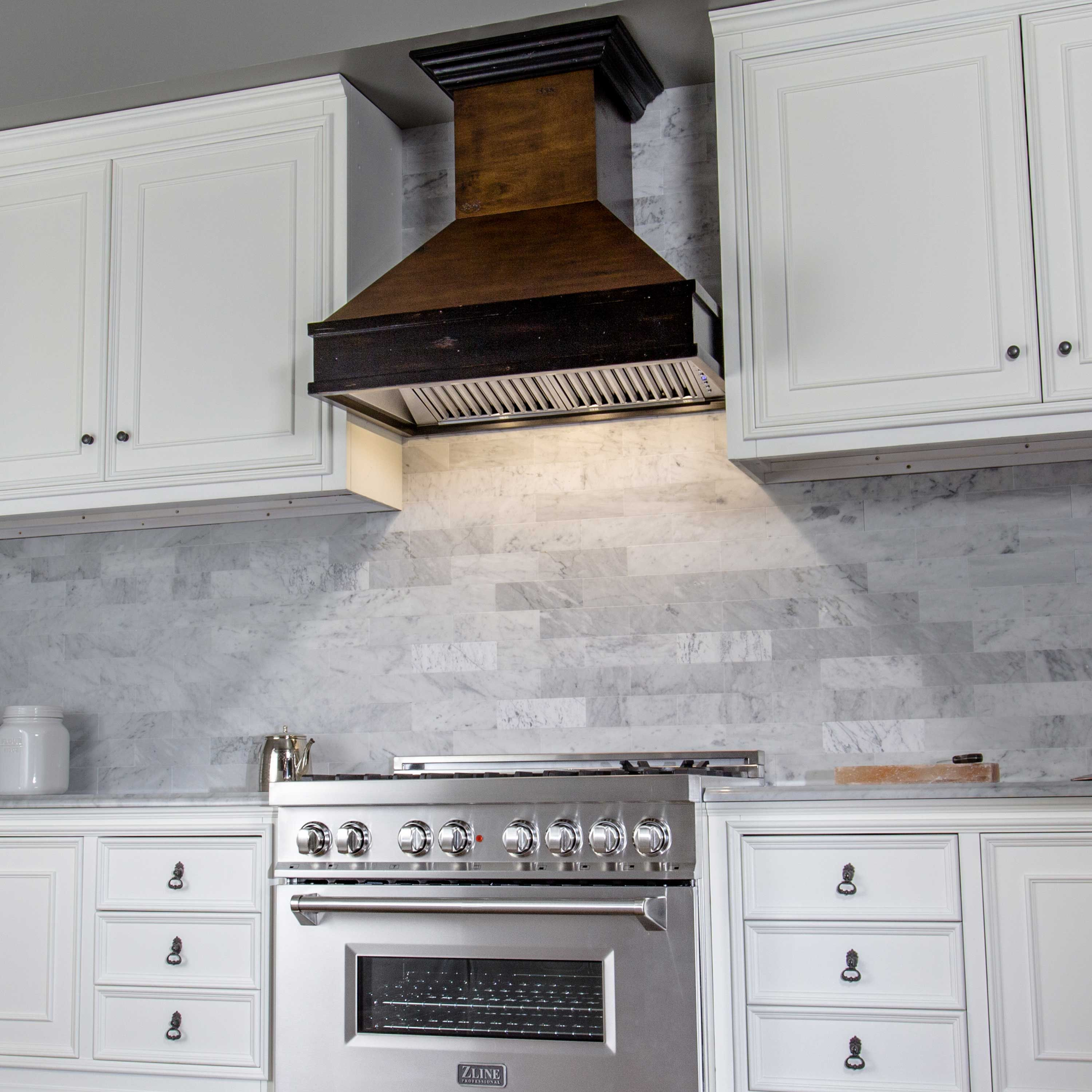 What S Your Dream Kitchen White And Modern Or Farmhouse Rustic Convection Range Wood Range Hood Range Hood