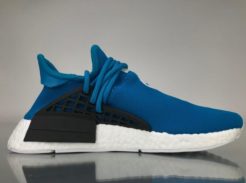 """895b107d94612 Adidas NMD Human Race Pharrell Williams """"Blue"""" Real Boost BB0618 for  Sale 04 This adidas"""