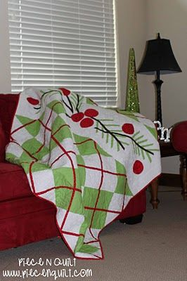 Piece N Quilt: Argyle Christmas Quilt Pattern available at this site #quilt #christmas