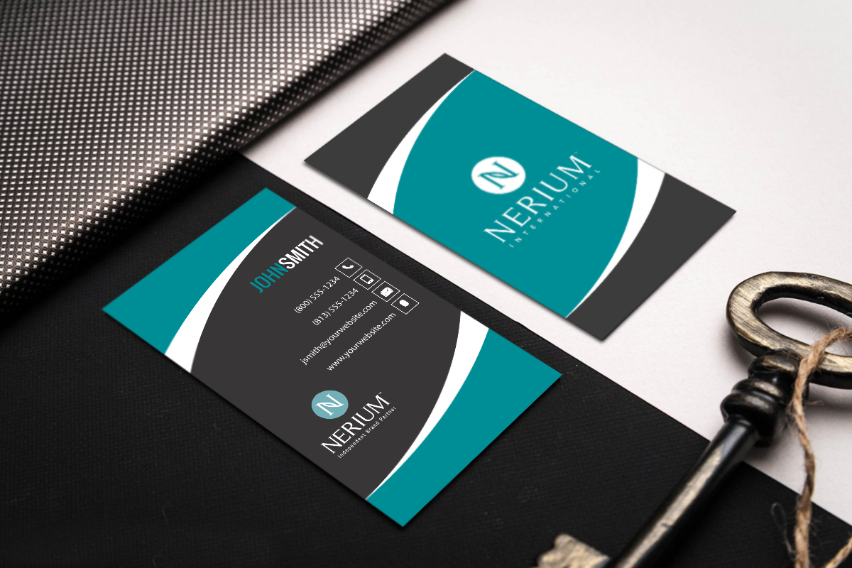 Nerium Brand Partners Can Customize And Order Their New Business Card Straight From Our Site Mlm Ne Printing Business Cards Free Business Cards Contact Card