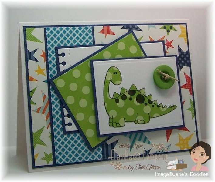 Dino Mite Dinosaur By Papercrafty Cards And Paper Crafts At Splitcoaststampers Dinosaur Cards Birthday Cards For Boys Kids Cards