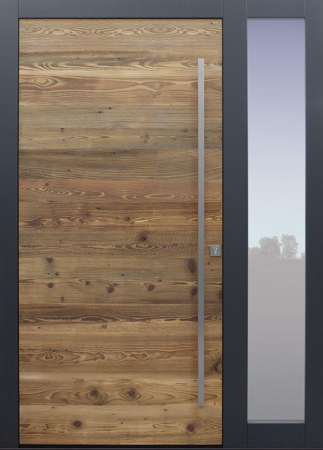 Photo of Front door modern, wood, spruce, old wood, old wood spruce, security door, passive …