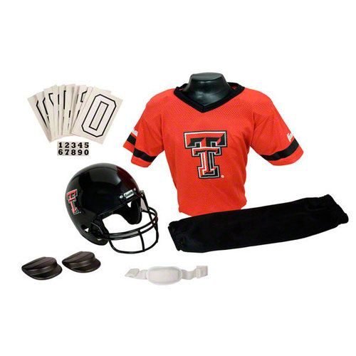 Texas Tech Red Raiders Kids Youth Football Helmet and Uniform Set ... a9b4e8480