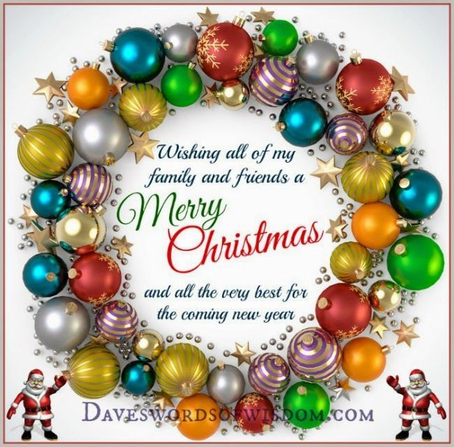 Wishing All My Family And Friends A Merry Christmas Pictures Photos And Images For Face Merry Christmas Quotes Christmas Wishes Quotes Good Morning Christmas