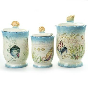 Beach-Themed-Kitchen-Canisters. Coastal Canister Set Shop Crackerbarrel Com Coastal Canister
