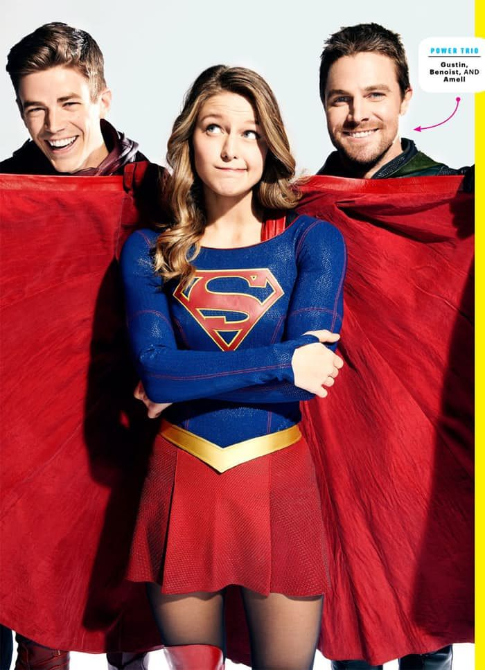Amazing Pic Here Comes The Cw Superhero 4 Series Crossover The Flash Supergirl Arrow Legends Of Tomorrow Supergirl And Flash Supergirl Supergirl Dc