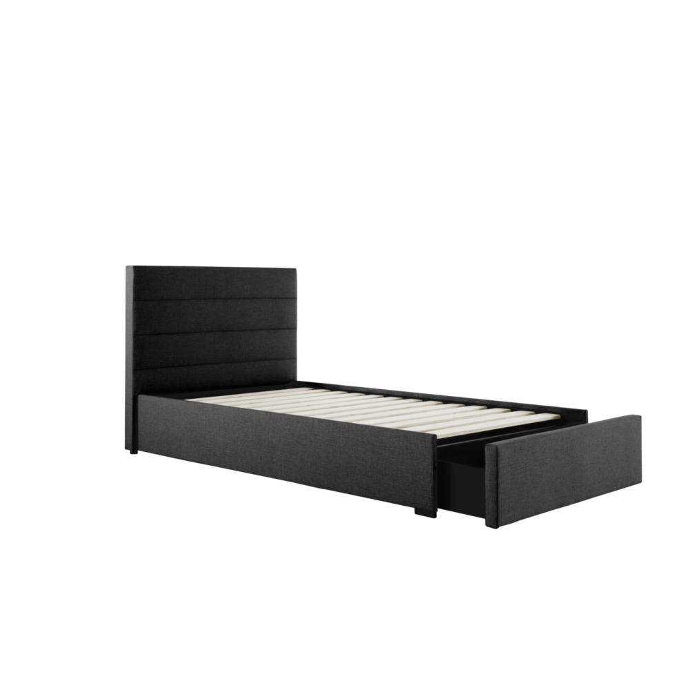 Paddington Bed Frame With 1 Drawer Storage Base Bed Frame
