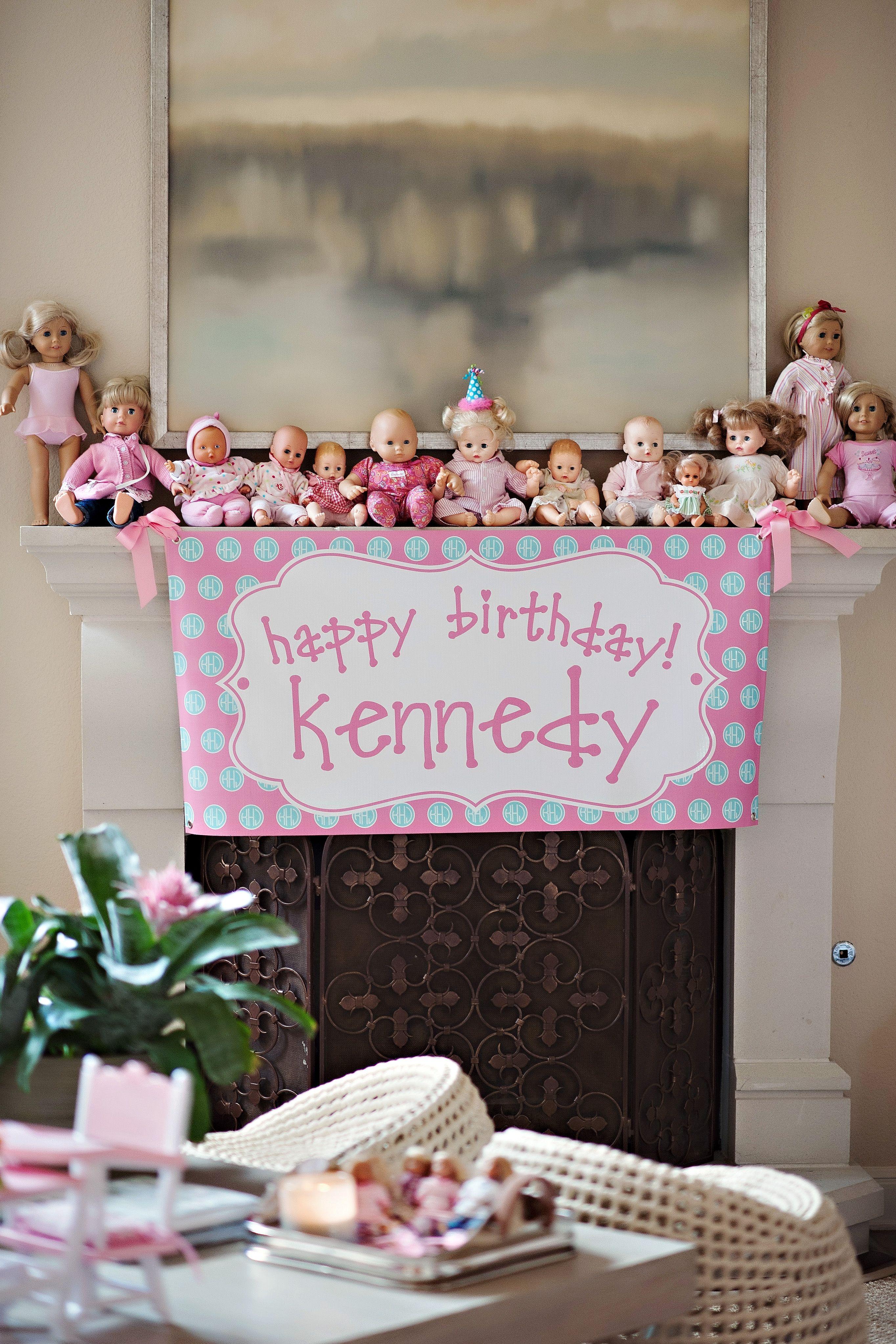 Custom Birthday Banner By Murchison Dry Goods Co Www Murchisondrygoods Com Babydollparty Tea Party Birthday Doll Tea Party Custom Birthday Banners