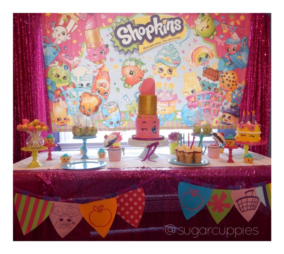 Shopkins Dessert Table! Shopkins Birthday Cake!