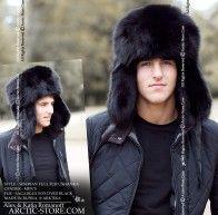5cafb338306 Siberian full fur ushanka in black fox arktika arctic-store russian ...