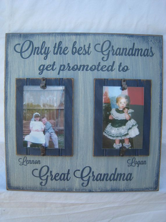 only the best grandmas get promoted to great grandma rustic signframe personalized free great gift anytime of the year