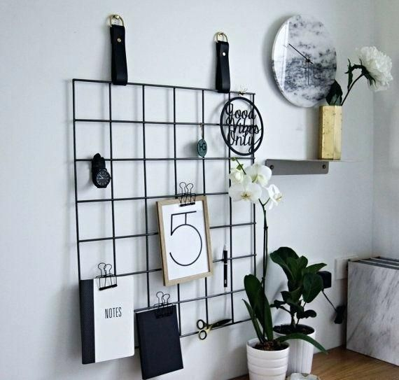 51 Best DIY Decor Ideas for Your Home Using Wire Wall Grid images