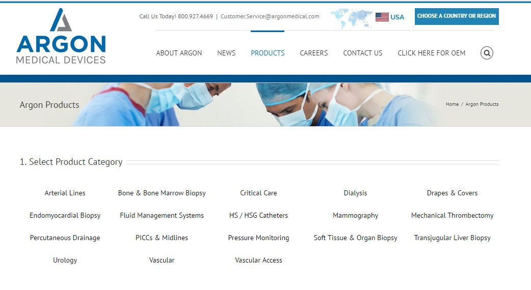 Argon medical devices inc position sales territory
