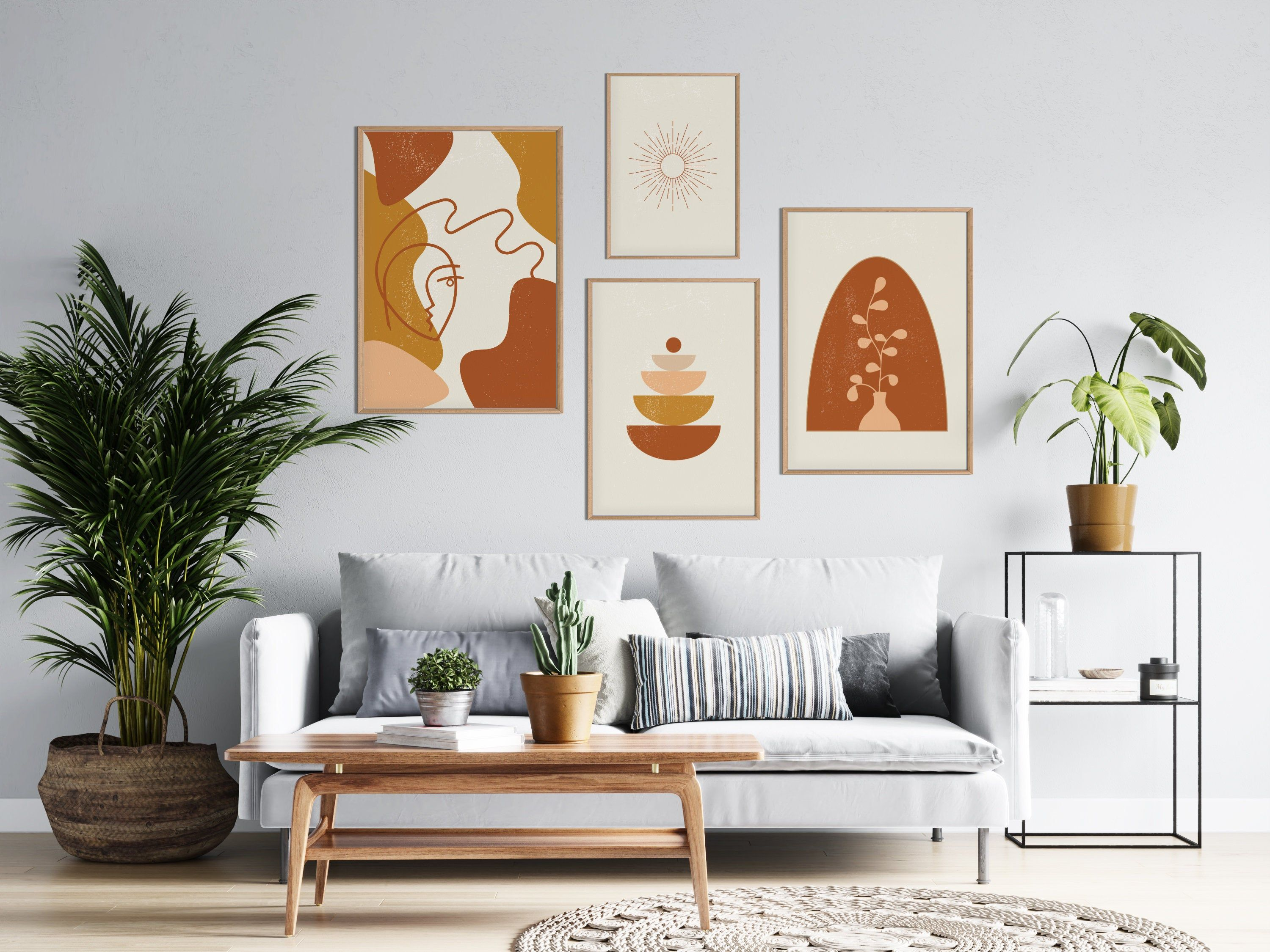 Set Of 4 Prints Gallery Wall Art Set Of Four Abstract Posters Art Prints Bundle Line Art Gallery Wall Printable Modern Art Poster Bundle Gallery Wall Printables Gallery Wall Modern Art Printables