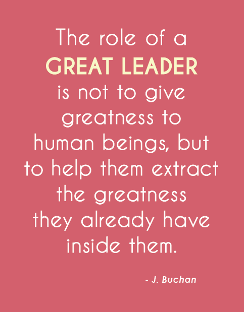 The Role Of A Great Leader Leader Greatness Buchan Leader