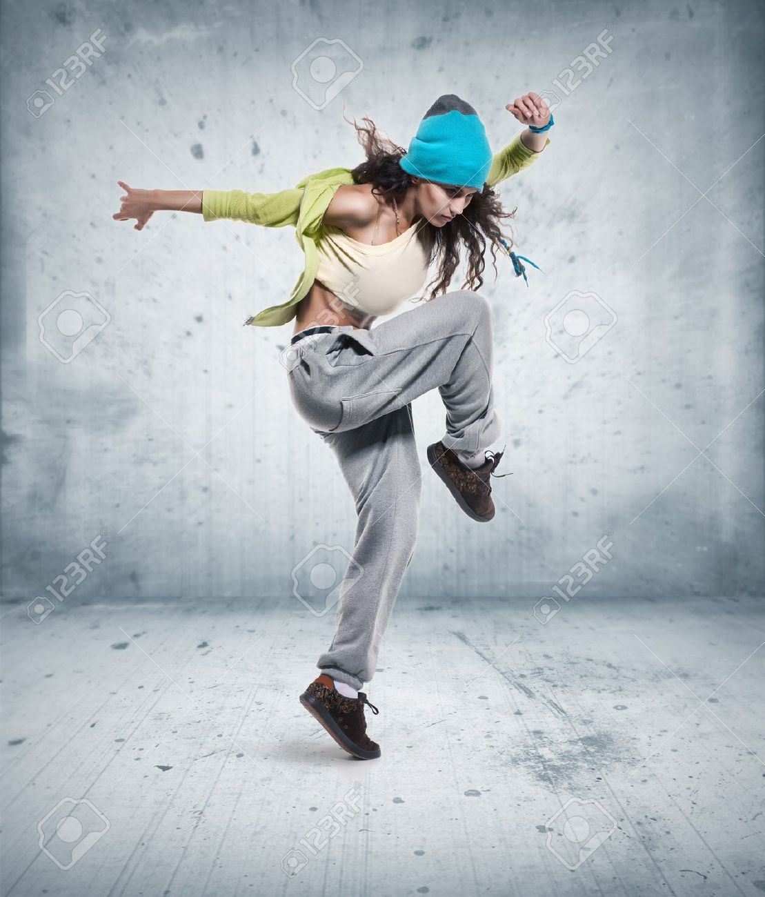 jeune danseur de hip hop femme