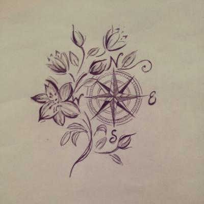 Rosa De Los Vientos Tumblr Tatuajes Sgv Primer Tatuaje Rosa