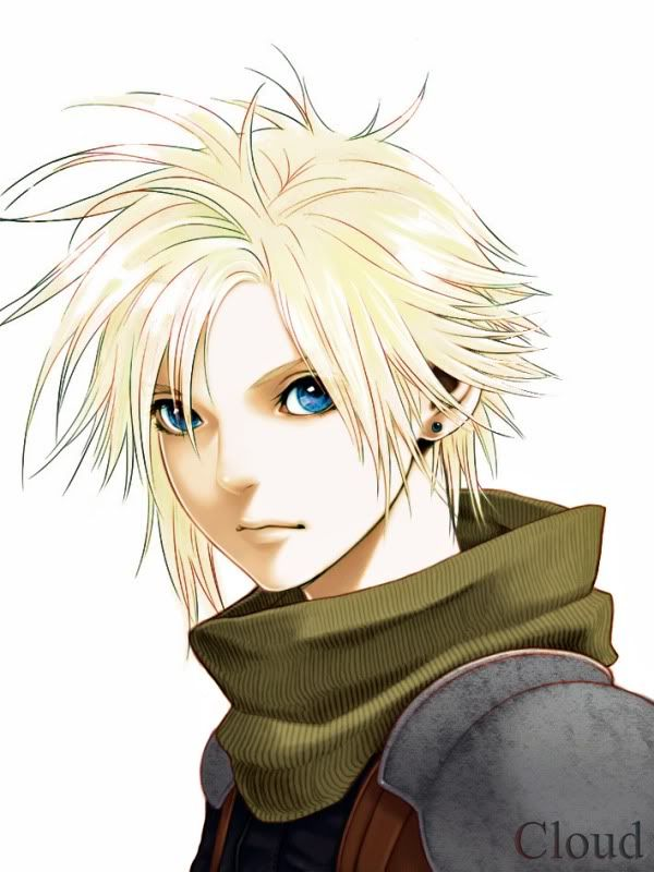 Young Cloud Strife, SOLDIER rank: Infantryman