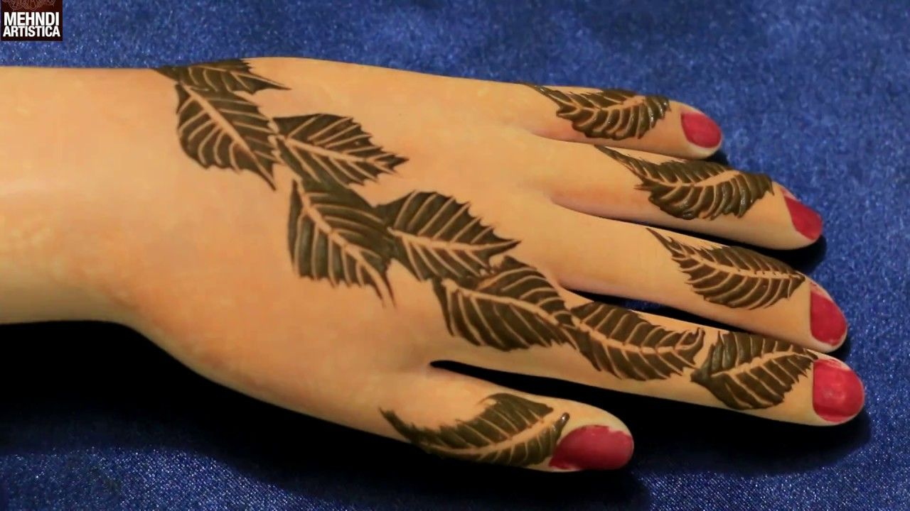 Mehndi Henna Artist Near Me : Easy simple unique leafy art mehndi decoration class henna mehendi