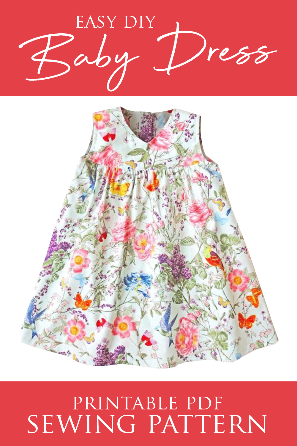 Easy Diy Baby Dress Sewing Pattern Sewenir Com In 2020 Little Girl Dress Patterns Girls Clothes Patterns Toddler Dress Patterns