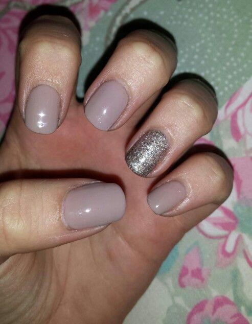 Bio Gel Nails >> Neutral nails with glitter. Prom nails. Bio sculpture gel ...