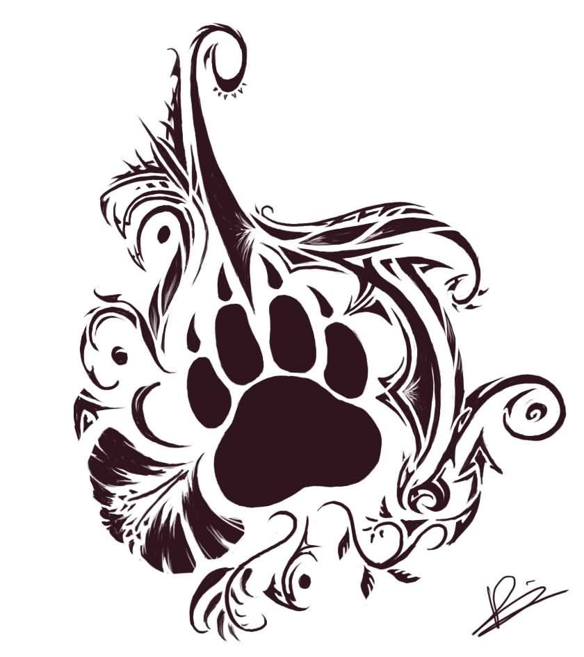bear paw and tribal tattoos tat pinterest bear paws bears and tattoo. Black Bedroom Furniture Sets. Home Design Ideas