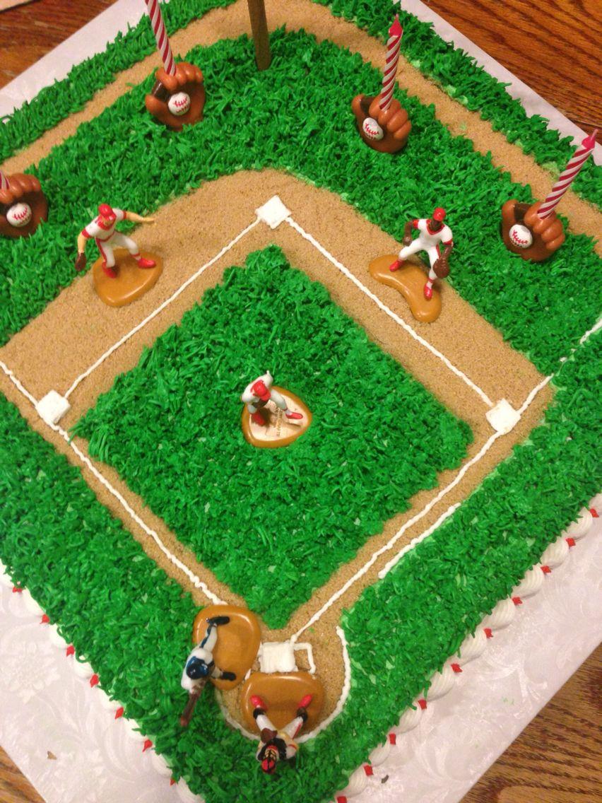 Home Run Softball Birthday Cakes